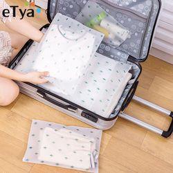 ETya Для женщин путешествия косметички из ПВХ прозрачный, с застежкой на молнии косметичка-органайзер нарядная сумка для косметических прина...