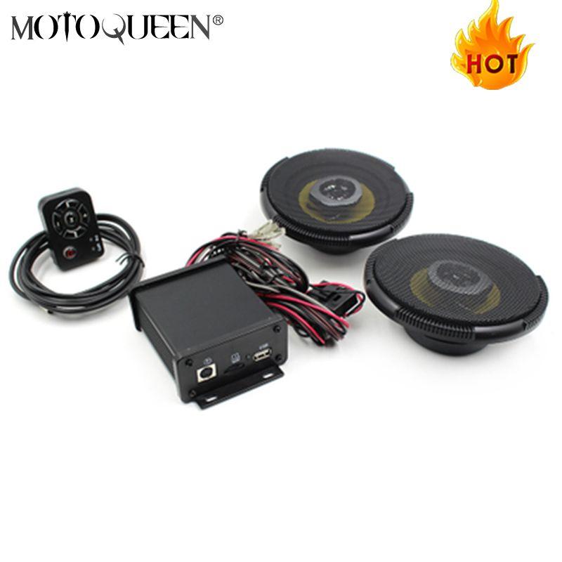 12 v Bluetooth Moto Moto WMA MP3 Lecteur Scooter Amplificateur Audio Radio FM Avec Haut-parleurs Coaxiaux
