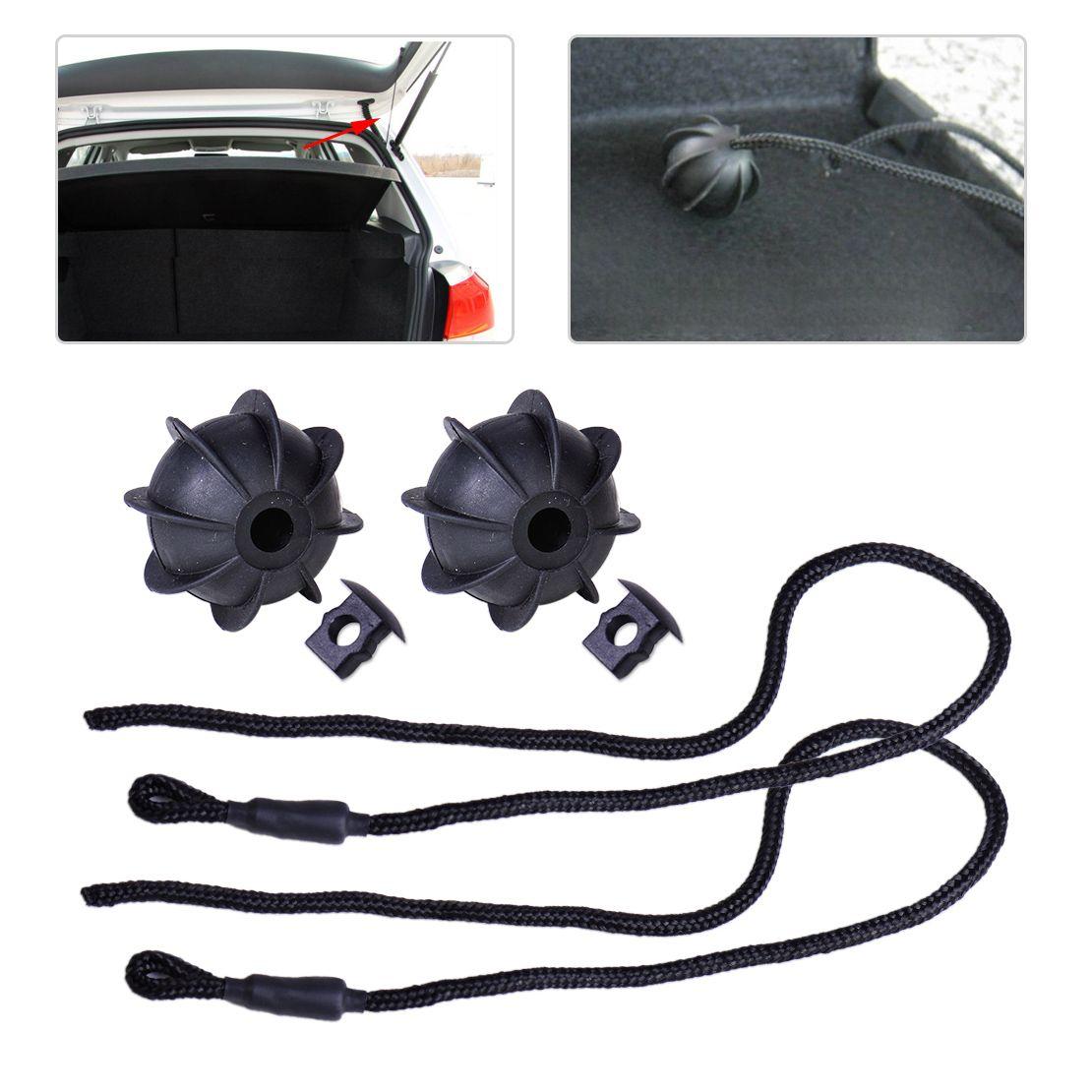 beler 2pcs Black Interior Rear Parcel Shelf String Tonneau Cover Strap Cord 1K6863447A 1K6863447A9B9 fit for VW Golf GTI Rabbit