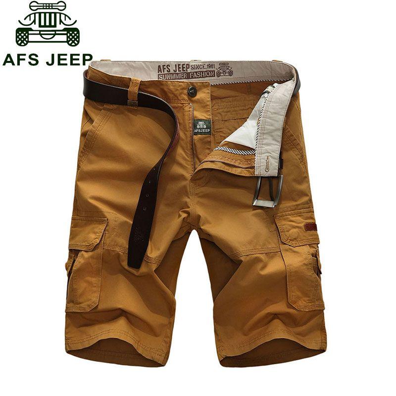 2016 Combat Cargo Shorts de Plage de Mode Militaire Armée Occasionnel Plus La Taille 30 ~ 44 4 Couleurs Marque-Vêtements VÊTEMENTS solide Couleur Coton