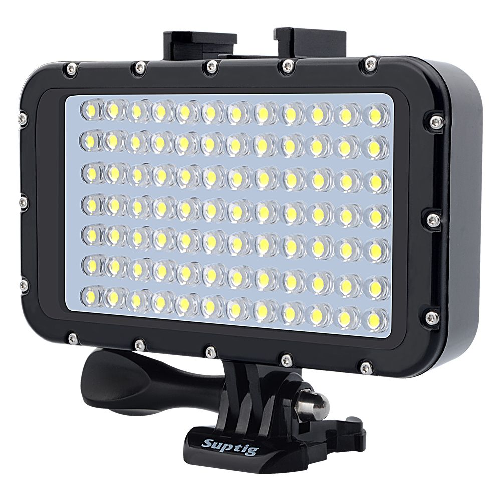 gopyks Ultra Bright 1800LM Photo Studio Video Light Lamp 3 Modes 5500K LED Diving Fill-in Light for GoPro Xiaomi Yi SJCAM Camera