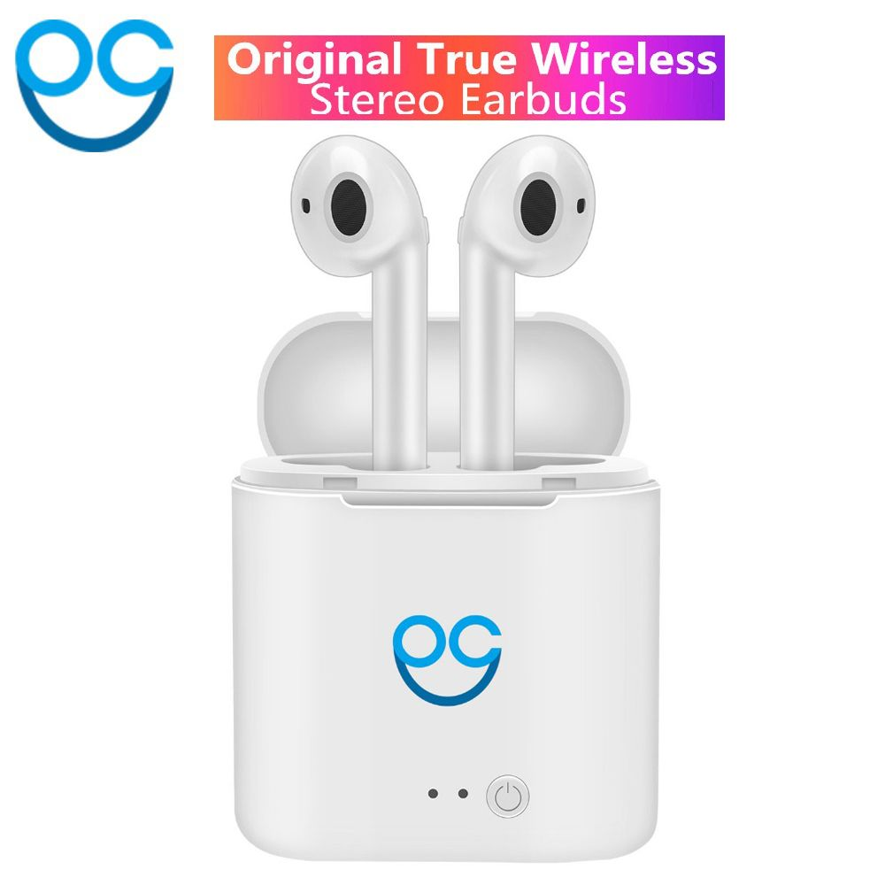 OGV I7s TWS Mini Double Oreille Sans Fil Bluetooth Écouteurs Air Gousses Casque Casques Écouteurs Pour Air Pod Iphone Android