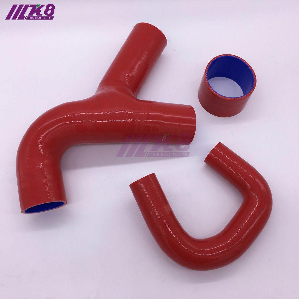 Silicone Intercooler Y Pipe Hose For SUBARU IMPREZA GC8 EJ20 STI WRX UK MK5-6 (3PCS) red/blue/black
