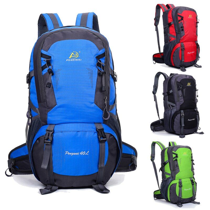 40L Climbing Bags Sport Camping Backpack Outdoor Waterproof Nylon Hiking Backpack Capacity Travel Bag Knapsack Lightweight EA14