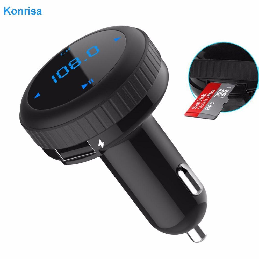 Kit de voiture mains libres modulateur transmetteur FM Bluetooth 4.2 lecteur MP3 de voiture moniteur LED double USB Support TF carte USB Flash pilote