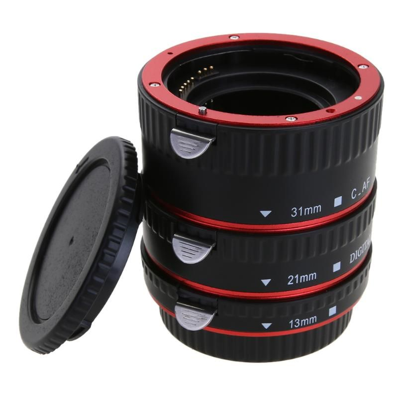For CANON Camera Lens Adapter for Canon EOS EF-S 60D 7D 5D II 550D Lens Adapter Auto Focus AF Macro Extension Tube/Ring Mount