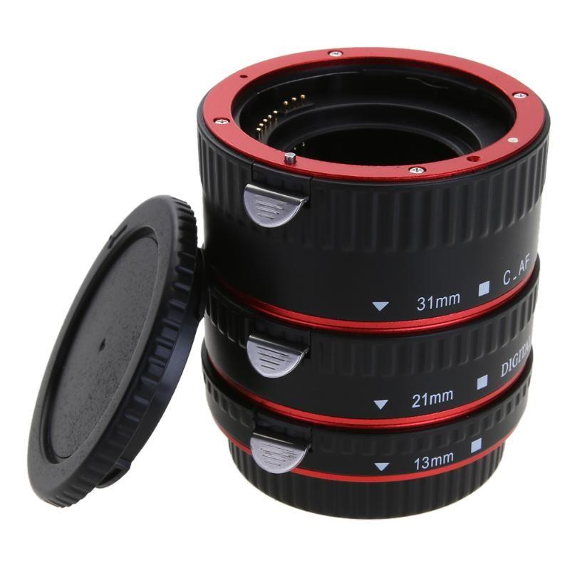 Pour CANON Camera Lens Adaptateur pour Canon EOS EF-S 60D 7D 5D II 550D Lentille Adaptateur Autofocus AF Macro Extension Tube/Anneau montage