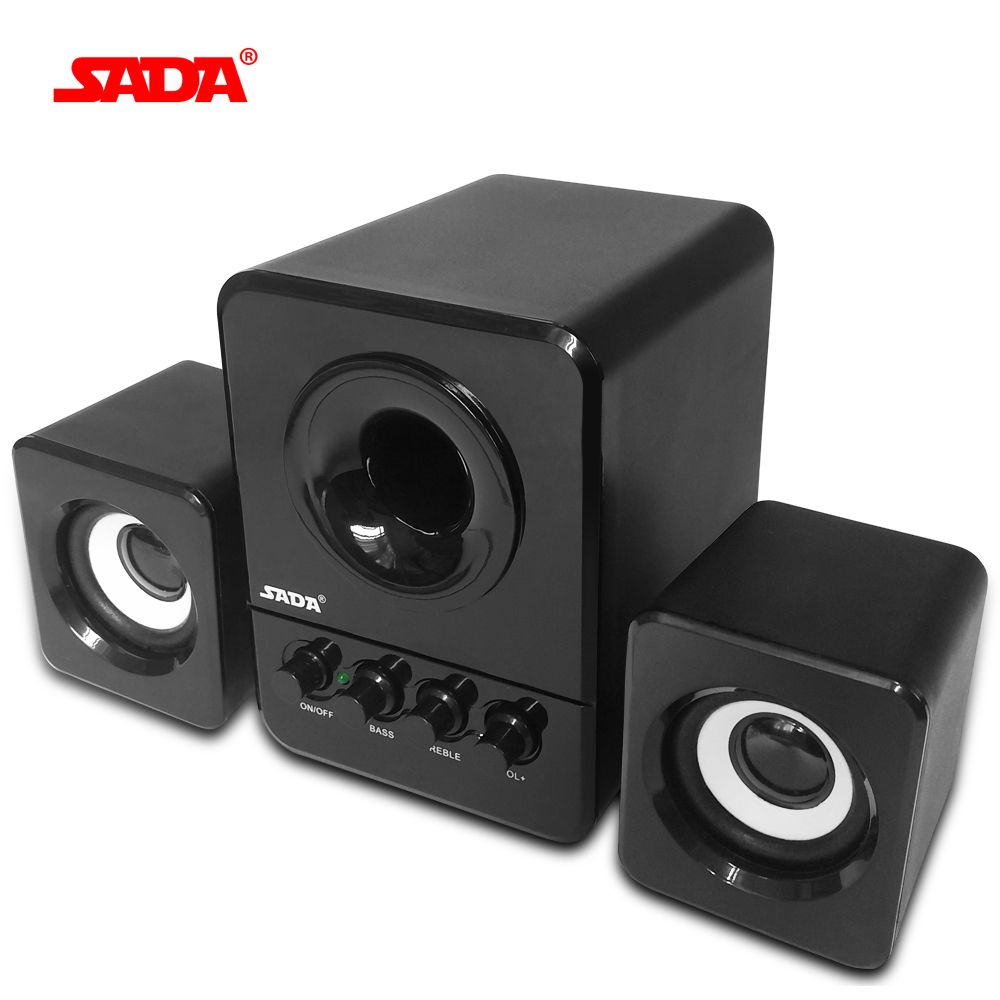 SADA Wired Mini Portable <font><b>Combination</b></font> Speaker Laptop Computer Mobile Column Computer Speaker USB 2.1 Bass Cannon 3W PC Speakers