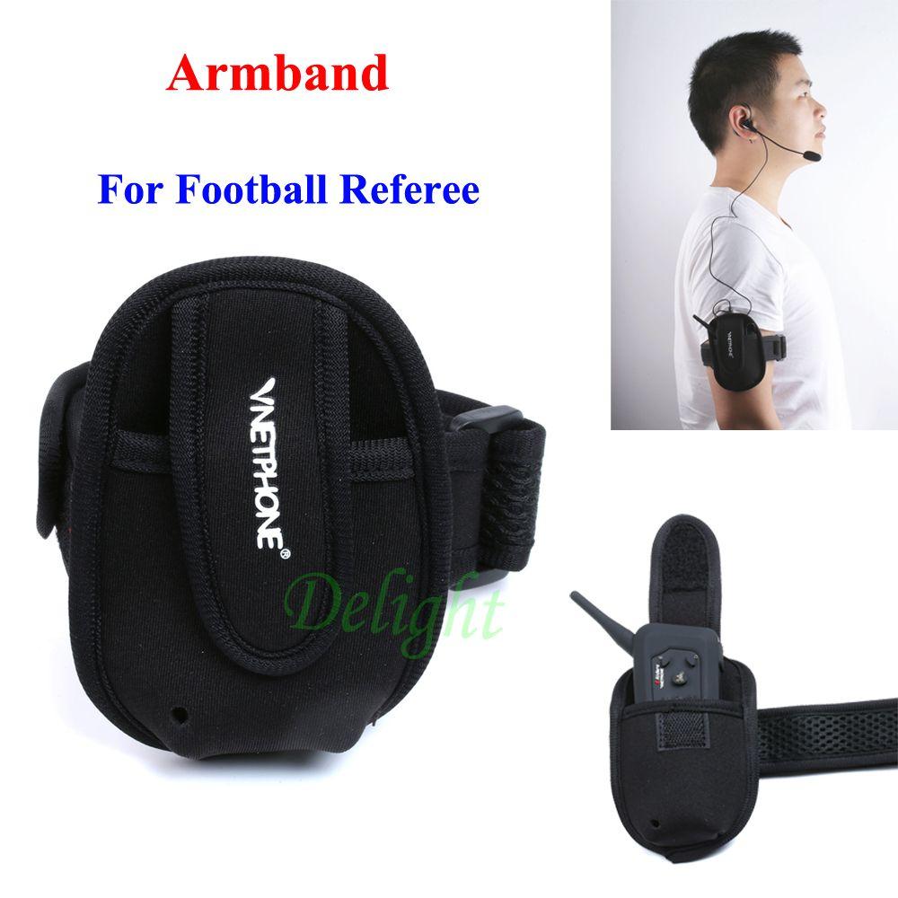 Vnetphone Portable Armband for Riders Helmet Soft Easypocket Helmet Intercom Headset Referee Armband Referee Intercom Bag