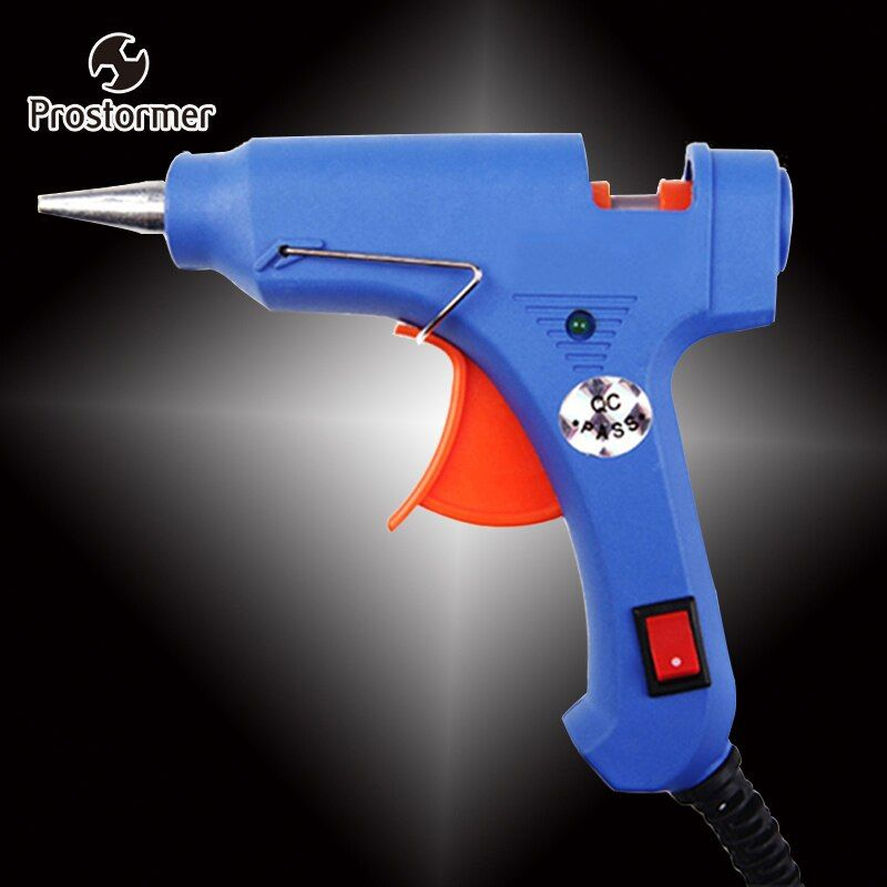 Prostormer 20W  EU Plug Hot Melt Glue Gun Industrial Mini Guns Thermo Electric Gluegun Heat Temperature Tool Graft Repair DIY