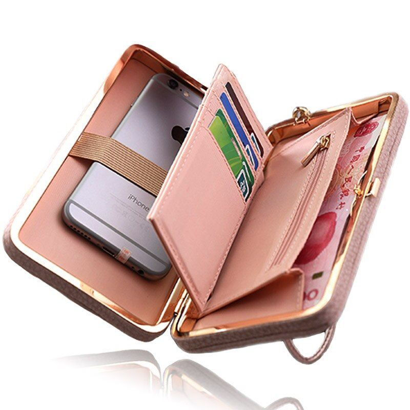 Women Wallet Phone Bag Case for iPhone X 8 7 6 5 4 s 6s 5s 4s Plus Cover for Samsung Galaxy S9 S8 S7 S6 <font><b>Edge</b></font> S5 J3 J5 A3 A5 2017