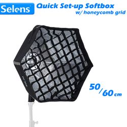 Selens Foldable Quick Set-up Softbox Hexagon Light Modifier with Universal Mount for Speedlite Photographic Studio Accessories