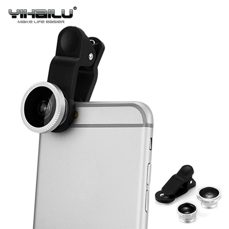 3 in 1 Universal Weitwinkel Makro-objektiv Clip Smart Für iPhone Xiaomi Huawei HTC Kamera Kit Für Alle Telefon