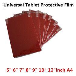 Прозрачный мягкий планшетный защитная пленка для экрана ПК для Универсальный 5,0 6,0 7,0 8,0 9,0 10 12 дюймов A4 автомобиля gps игра общая чистая защитн...