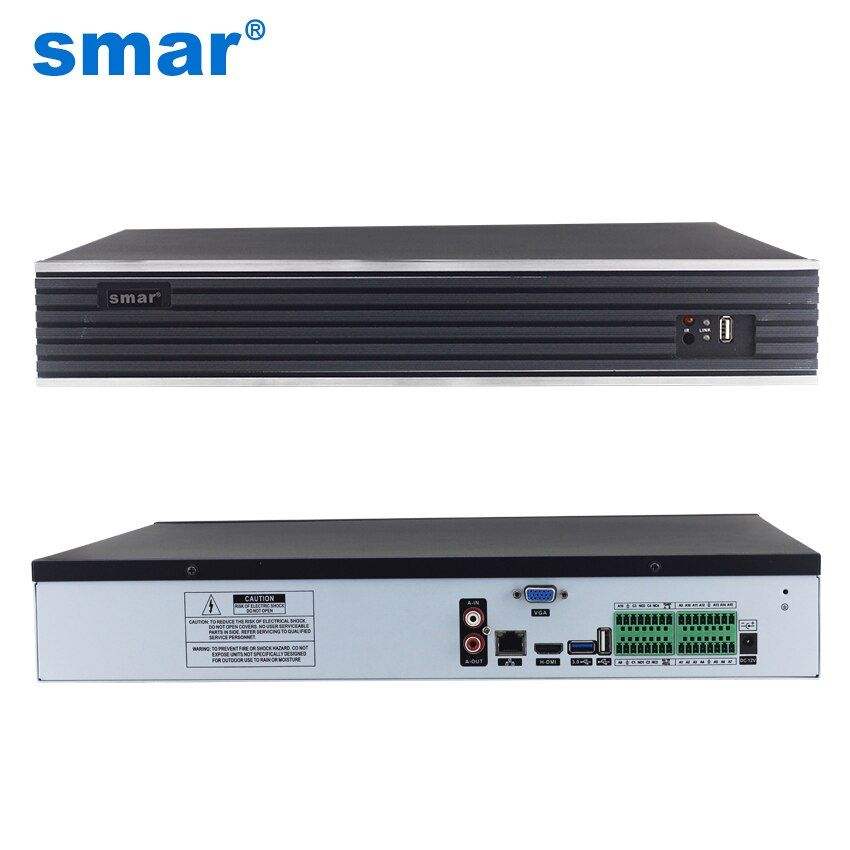 Smar Max 4K Output 32CH 4MP 24CH 5MP CCTV NVR H.265 Onvif Network Video Recorder HI3526 Processor 4 SATA CCTV NVR System