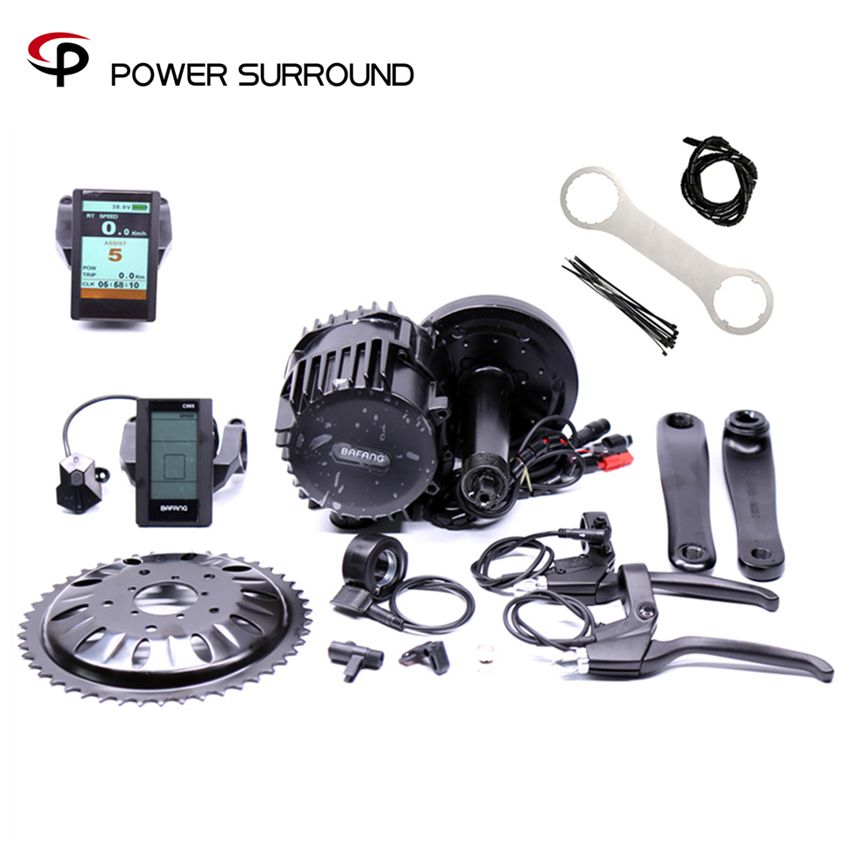 Promotion Real Free Shipping 48v 1000w Bafang/8fun Bbs03 Bbshd Ebike Electric Bicycle Motor Mid Drive Bike Conversion Kit
