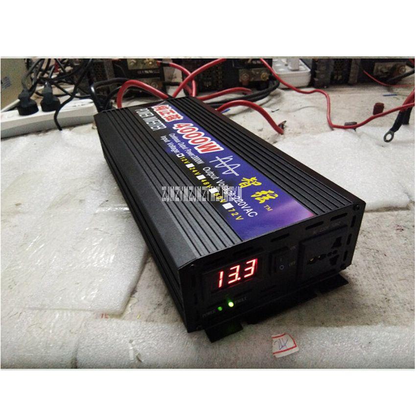 Zx-4000W Pure Sine Wave Car Power Inverter 4000W 12V/24V/48V/60V To 220V Car Converter Inverters For Solar Boat Home Appliances