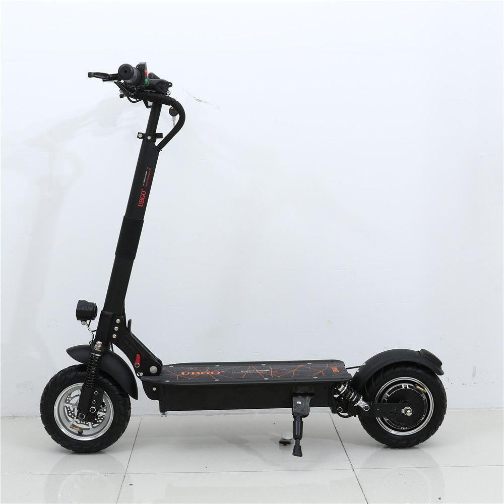 UBGO 1004 Einzigen Treiber Vakuum Reifen 10 zoll Faltbare Elektrische Scootor mit 1000 watt Turbine Motor
