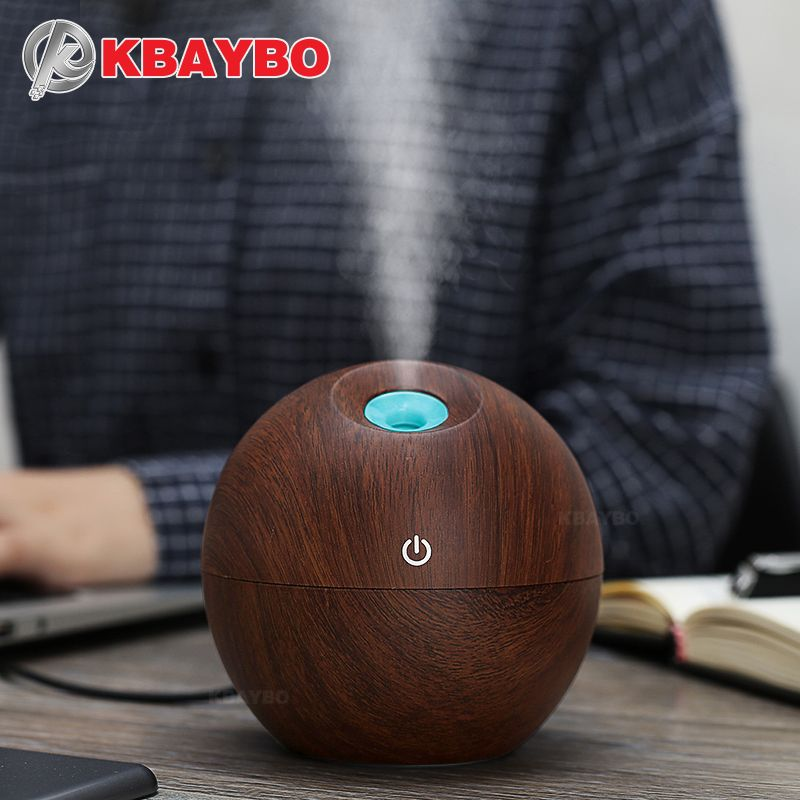 130 ml USB Aroma Huile Essentielle Diffuseur Ultrasons Mist Humidificateur Purificateur D'air 7 Couleur Changement LED Night light pour le Bureau la maison