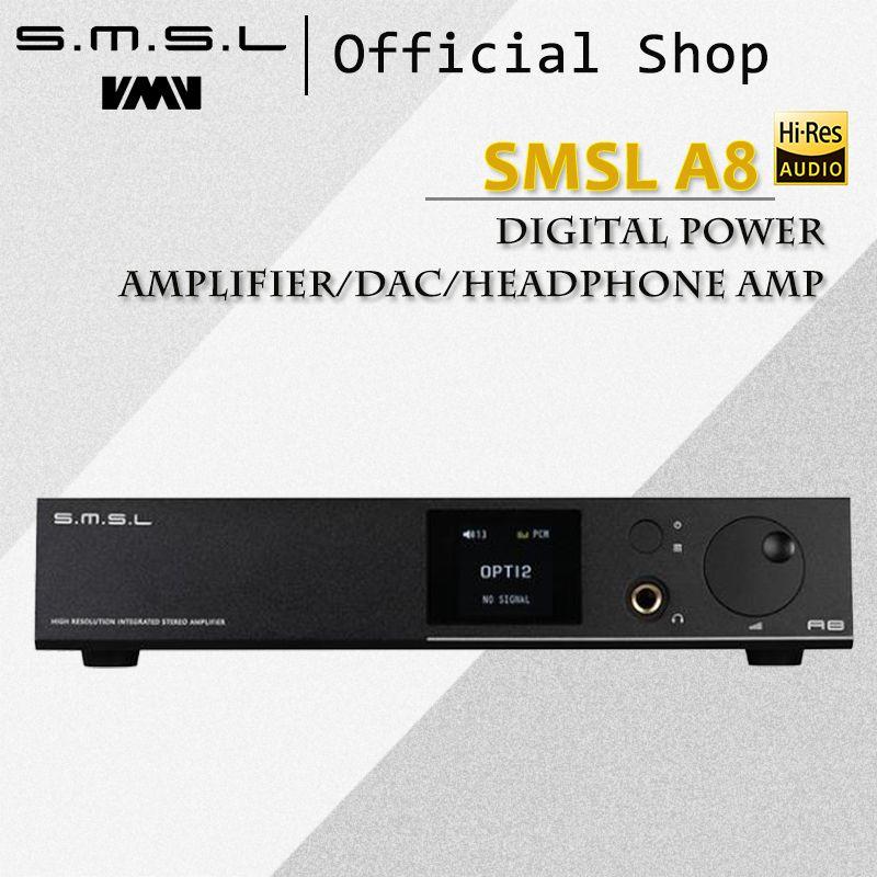 SMSL A8 125Wx2 AK4490 768 khz DSD512 XMOS HIFI ICEpower Modul Audio Digital Power Verstärker/DAC/Kopfhörer Amp neueste Lösung