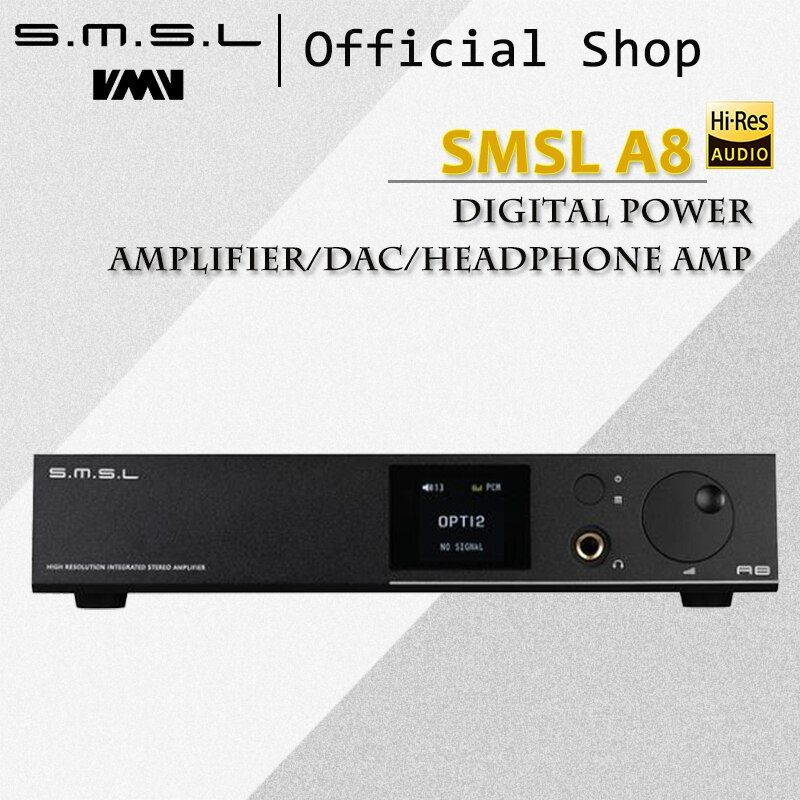 SMSL A8 125Wx2 AK4490 768khz DSD512 XMOS HIFI ICEpower Module Audio Digital Power Amplifier/DAC/Headphone Amp Latest Solution