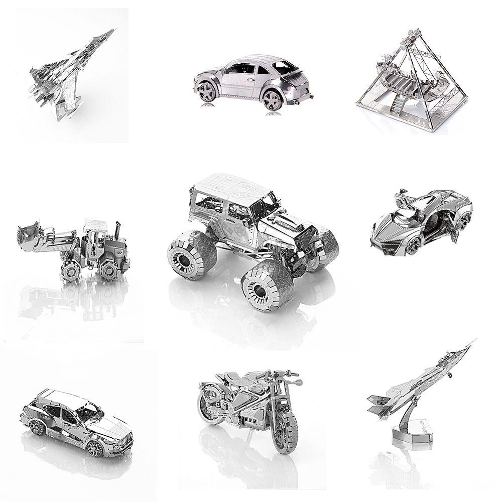 DIY Finger 3D Metall Puzzle Welt Gebäude/Auto/Modell Kind Montage Erwachsenen Puzzle Pädagogisches Spielzeug Für Kinder