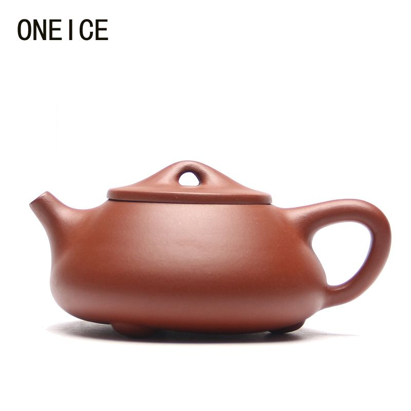 Yixing purple clay Teapot Stone scoop pot Qing cement teapot Author: jing hua ji Hi Quality Ball Hole Limited