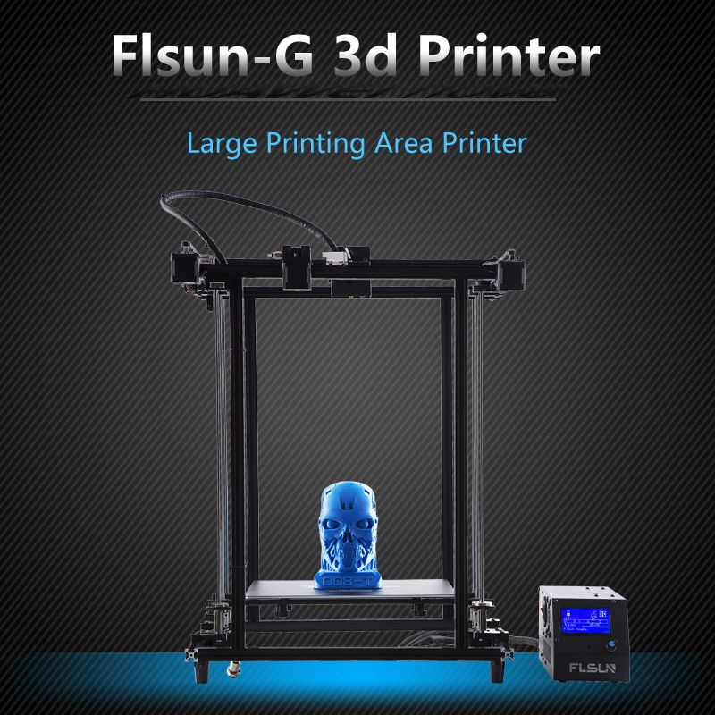 2018 Flsun Corexy 3D Printer Plus Size 320*320*460mm Pre-assembly Metal <font><b>Frame</b></font> V-Slot Filament Sensor Dual Z Lead Screw Heatbed