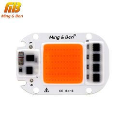 [MingBen] Led Grow Light Chip 20W 30W 50W 230V Full Spectrum 380nm~780nm Best for Hydroponics Greenhouse Grow DIY for LED Lamp