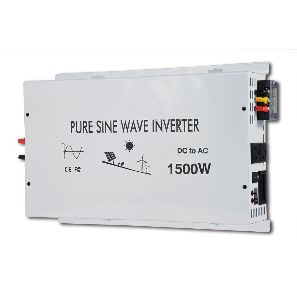 1500w Pure Sine Wave Power Inverter Controller Solar Battery LED display Car Charger Off-grid DC 12V 24V 48V to AC 120V 220V