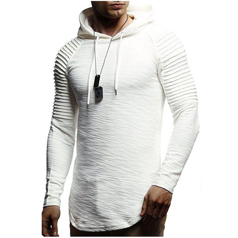 2018 Nouveau Hommes Hoodies Marque De Mode Hommes Solide Couleur Sweat Mâle Sweat À Capuche Hip Hop Automne Hiver À Capuche Hommes Pull XXXL