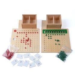 Montessori Manik Papan Perkalian dan Pembagian Papan Manik untuk Pelatihan Prasekolah Mainan Pendidikan Anak Usia Dini Bayi Mainan