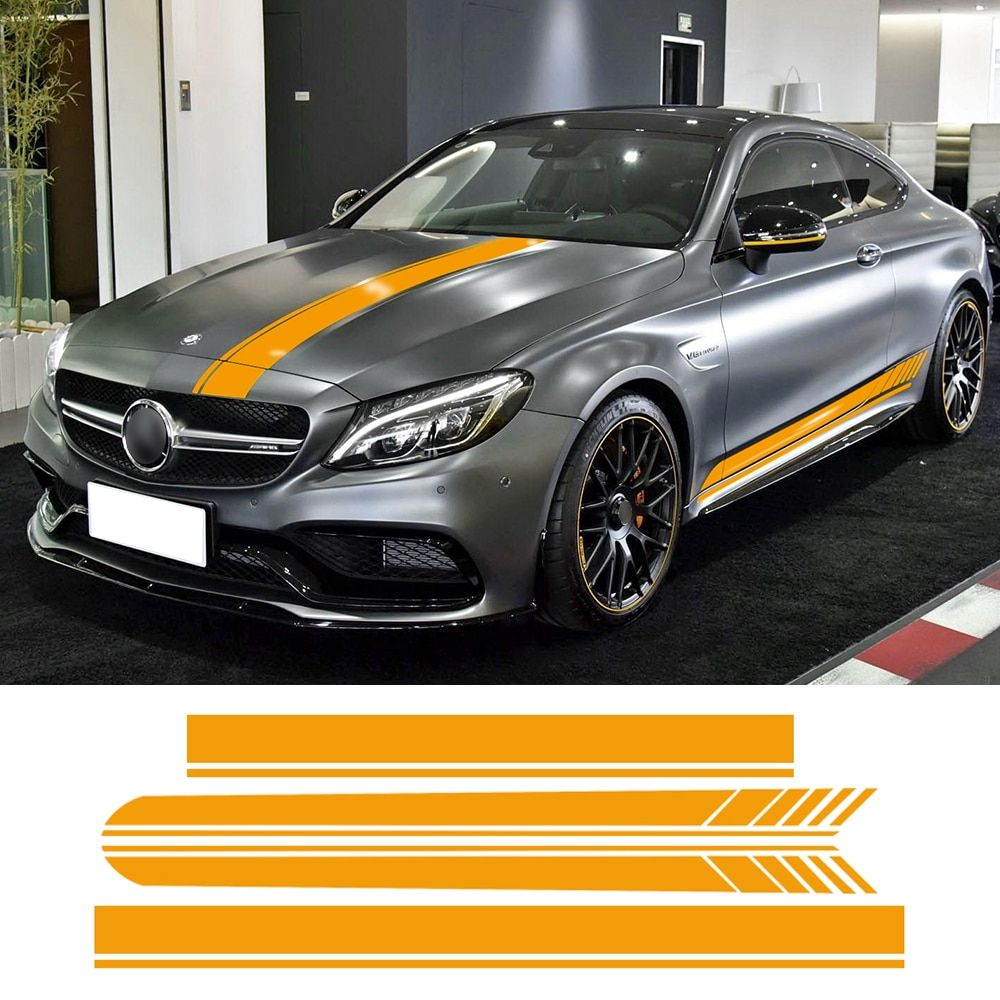 Edition 1 Side Skirt Hood Roof Racing Stripe Vinyl Decal Car Sticker for Mercedes Benz C63 Coupe W205 AMG C200 C250 Accessories