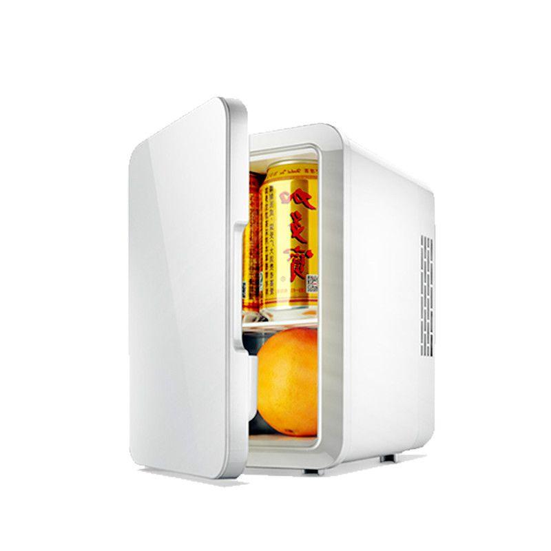 Portable 4L Mini Refrigerator 12V / 220V Dual Car Home Fridge Cooler Box Mini Frigo Mini Car Regrigerator Vehicle Fridge