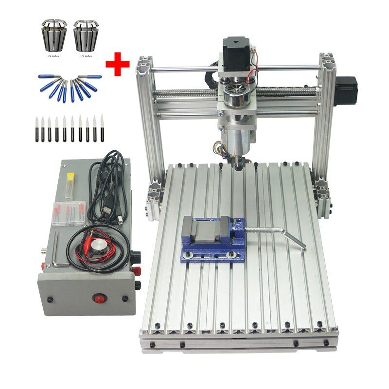 DIY metal engraving machine 3040 3axis 4axis 5axis CNC Router USB port drilling cutting