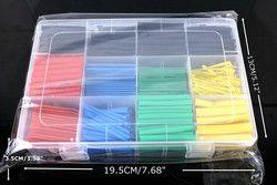 Best-seller 530 pcs Thermique contre Manches câble Thermorétractable Tube termoretractil pvc tube tuyau 2:1 Wrap Fil Câble libèrent le bateau