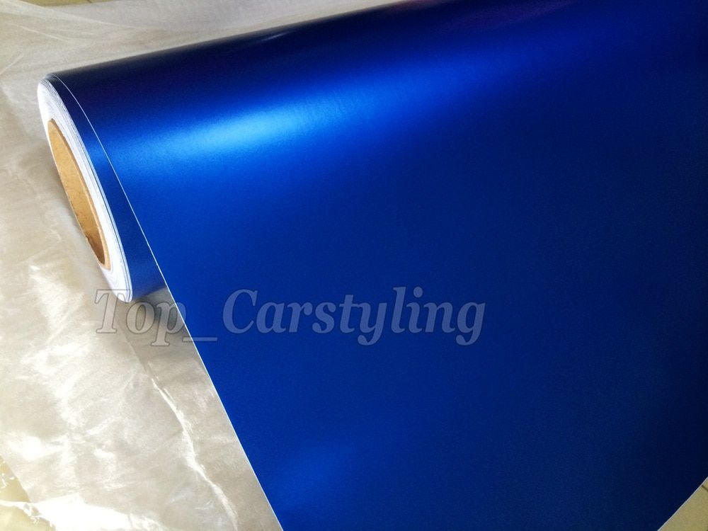 Blue pearl matte Vinyl Sticker Car Wrapping Film With Air Release satin pearl blue matt For Car Wrapping Size:1.52x30m/roll