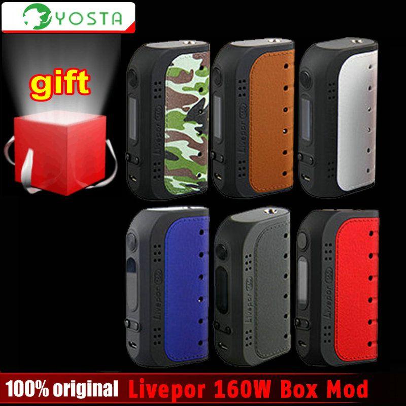 Original Yosta Livepor 160W Box Vape Mod electronic cigarette No 18650 Battery Box Mod or IGVI RDA Tank 160W Power VS Smok Eleaf