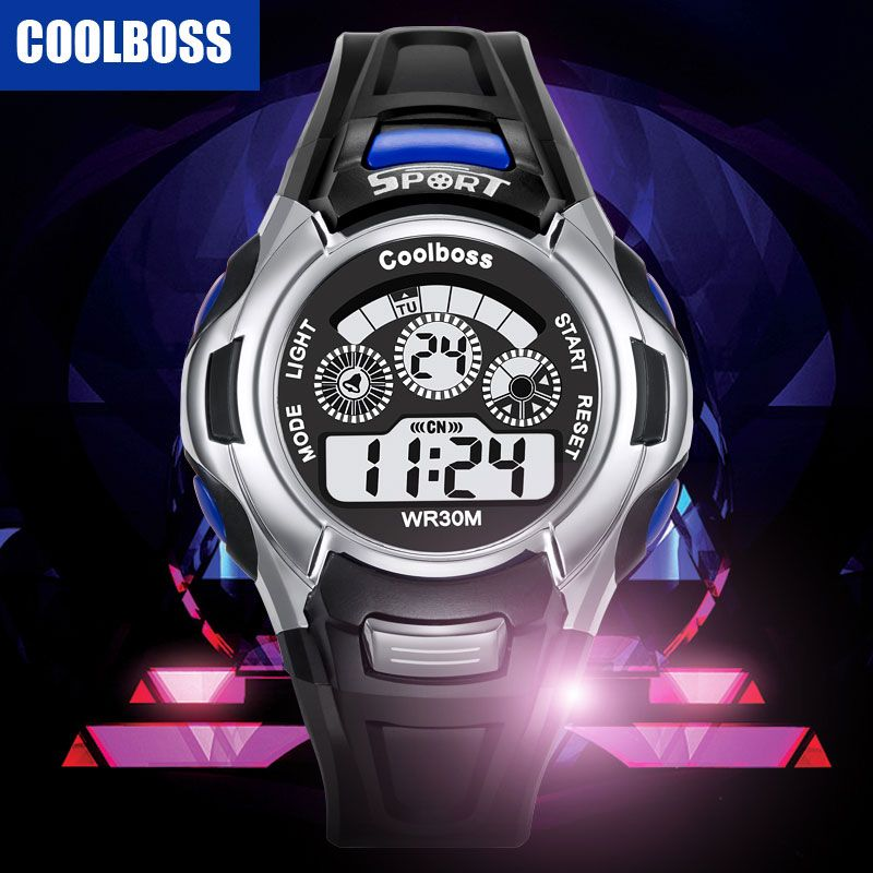 Electronic Sport Students Children Watch Kids Watches Boys Girls Wristwatches Clock Child LED Digital Wrist Watch for Boy Girl