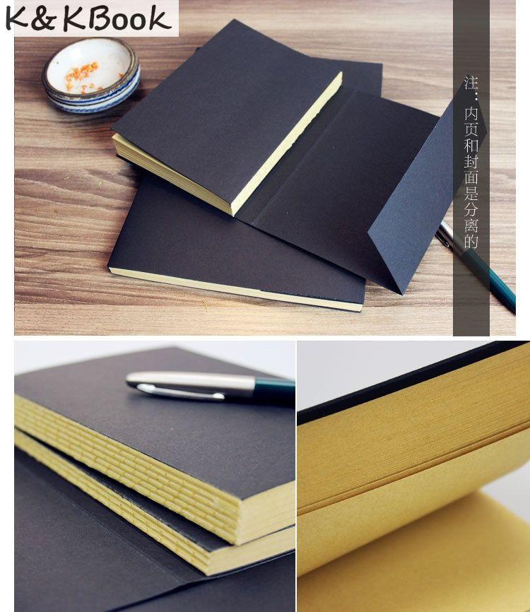 K & Kbook Винтаж kraft Бумага пустой страницы эскиз книга канцелярские дневник студент подарок Тетрадь
