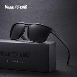 Polarking Merek Retro Terpolarisasi Kacamata untuk Pria Plastik Oculos Pria Fashion Square Plastik Berjemur Kacamata Mengemudi Eyewear