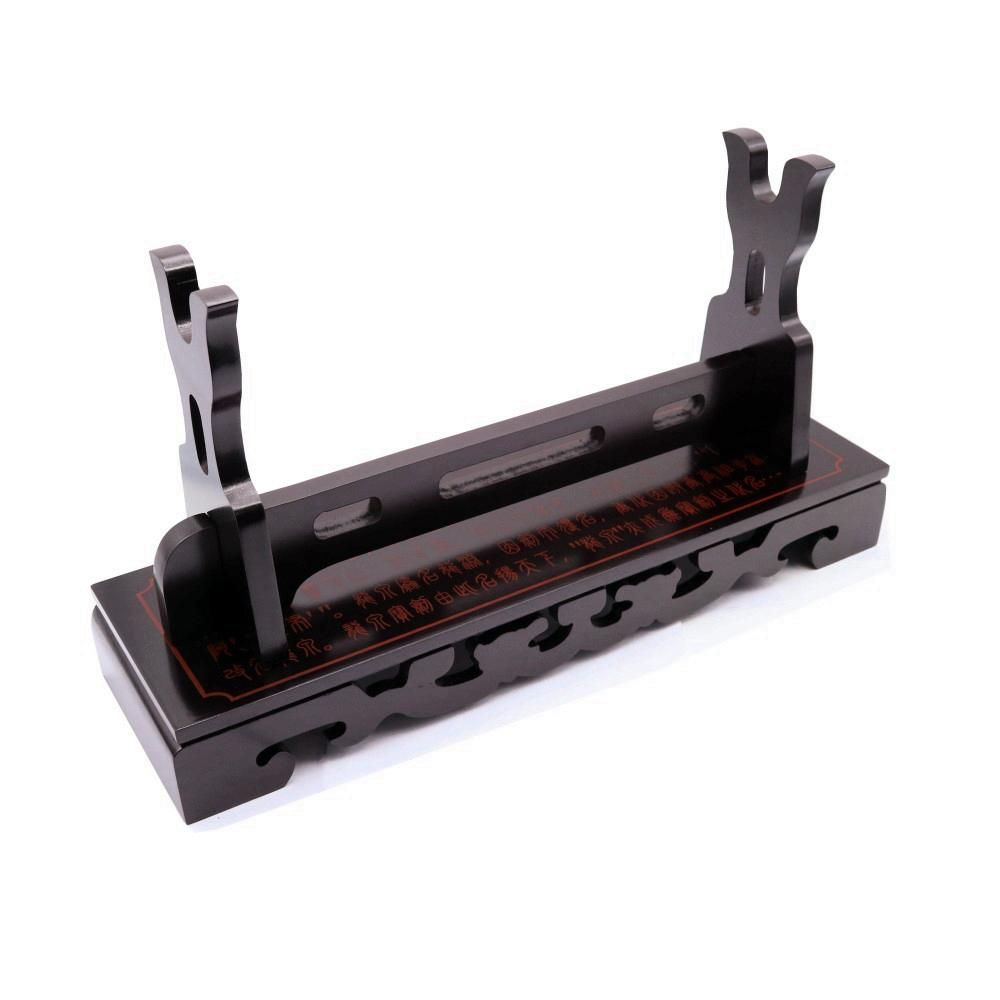 Luxury Lacquer Finish Ancient Chinese Characters Sword Katana Tanto Holder Stand 1 Layer