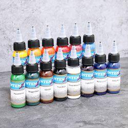 Salon tatuaje tinta 13 colores conjunto 30 ml botella pigmento del tatuaje Kit Body Art pintura tinta