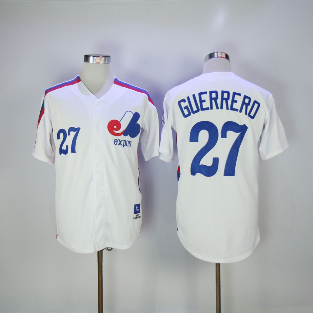Vladimir Guerrero Jersey 27 Montreal Expos Baseball Jersey All stitched Retro Style More Color