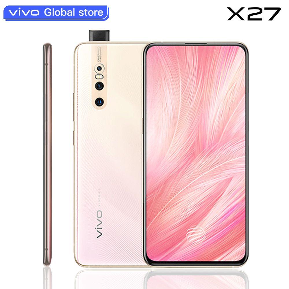 Original vivo X27 Handy celular Android 9.0 Snapdragon Octa Core 8 + 128 Fingerprint 48.0MP AI HiFi Erhöhung Kamera