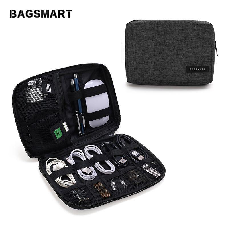 BAGSMART Accessoires Électroniques Emballage Organisateurs pour Écouteurs USB SD Carte Chargeur Données Câble Voyage Sac Pack Valise Cas
