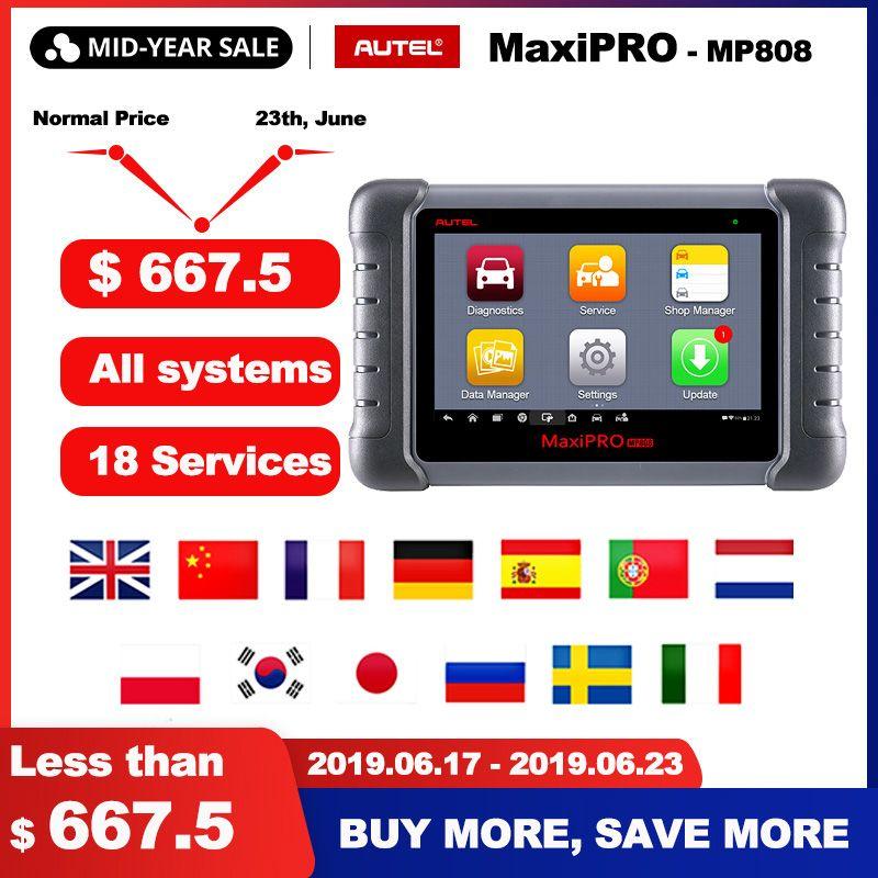 Autel MaxiPRO MP808 OBD2 Scanner Auto Diagnose Werkzeug OBDII OE-niveau Bi-directional Control schlüssel programmierer Code Reader PK DS808