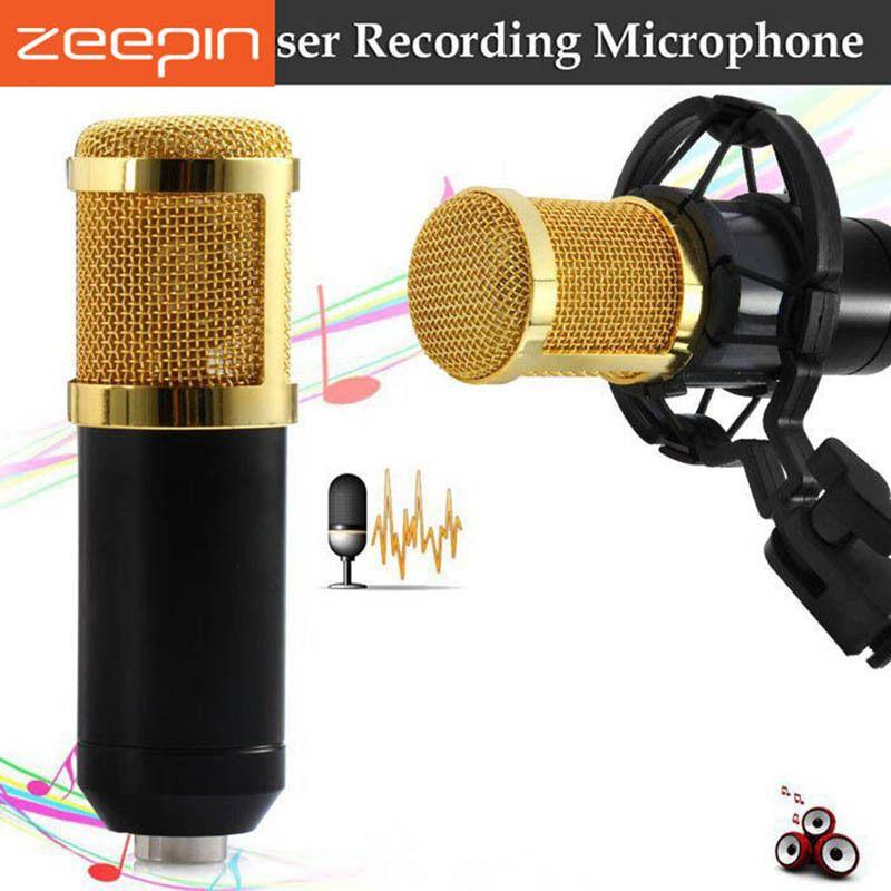 ZEEPIN BM 800 Recording Microphone Condenser Mic kit Sound Studio shock mount for Singing Recording  KTV Karaoke Professional