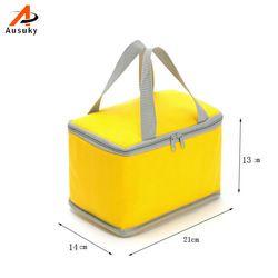 Новый Портативный Термальность обед сумки для Для женщин Для мужчин многофункциональный Карамельный цвет для хранения сумки Еда Пикник Из...