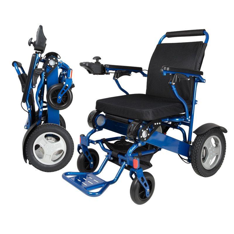 Faltbare tragbare elektrische rollstuhl auto ältere ältere behinderte automatische intelligente vier-rädern roller kapazität 180 kg